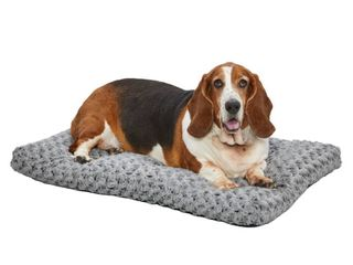 MidWest Homes for Pets Plush Dog Bed Ombre Swirl Dog Bed   Cat Bed Gray 35l x 23W x 2H Inches for Med    large Dog Breeds DAMAGED