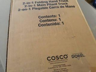 Cosco Shifter 300 Pound Capacity Multi Position Heavy Duty Folding Hand Truck and Dolly  Green   12222PBG1E