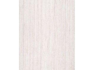 nulOOM Rigo Hand Woven Jute Area Rug  4  x 6  Off white