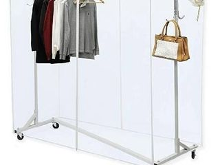 Clear Cover for Simple Houseware Industrial Grade Z Base Garment Rack