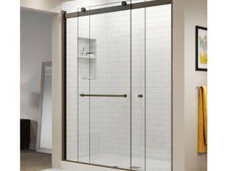 Basco   Oil Rubbed Bronze shower door hardware and rails 56 60   shower door not included
