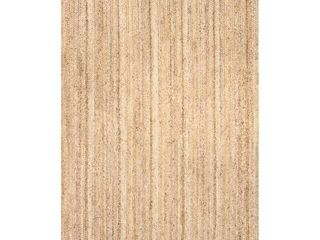 nulOOM Rigo Hand Woven Jute Area Rug  6  x 9  Natural   Torn on one side