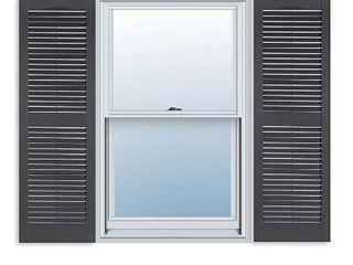 15  x 55  Standard Raised panel Exterior Vinyl Shutters Black