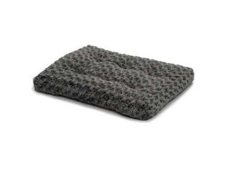 Plush Dog Bed 40648 SGB  OmbrAAc Swirl Dog Bed   Cat Bed   Gray 46l x 29W x 3H   Inches for Xl Dog Breeds