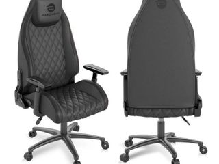 Atlantic Dardashti Gaming Chair   Commercial Grade  BIFMA X5 1 Tested  Next Gen Ergonomic  Race Car Inspired Black with Black Accent  PN78050356   Not Inspected