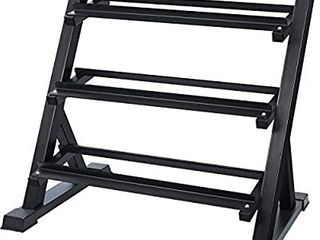 AKYEN 3 Tier Dumbbell Rack Stand Only for Home Gym  Weight Rack for Dumbbells  1100 Pounds Weight Capacity  2020 Version