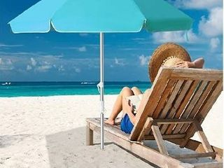 Snail Beach Umbrella  7 ft Sand Anchor with Tilt Aluminum Pole  Portable Sun ray Protection Beach Umbrella with Carry Bag for Outdoor Patio  Blue