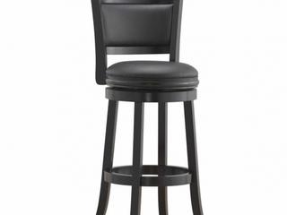 Boraam Augusta Bar Height Swivel Stool  29 Inch  Black   Not Inspected