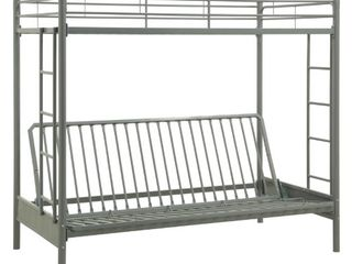 DHP Twin Over Futon Metal Bunk Bed NOT FUllY INSPECTED OUTSIDE BOX