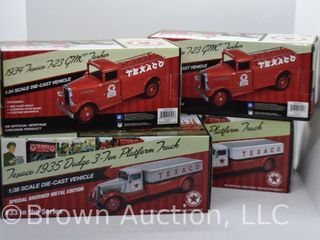 4  die cast Texaco models  1 38 and 1 34 scale