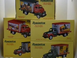 5  die cast Remington models  all 1 34 scale