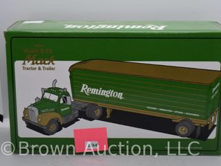 1960 Mack model B 61 tractor and trailer  1 34 scale  die cast