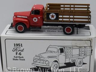 1951 Ford F 6 full rack Stake Truck  die cast  1 34 scale