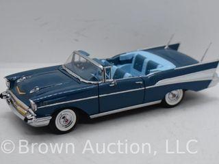 1957 Chevrolet Bel Air convertible die cast model