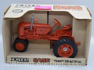 Case VAC die cast tractor  1 16 scale  silver exhaust