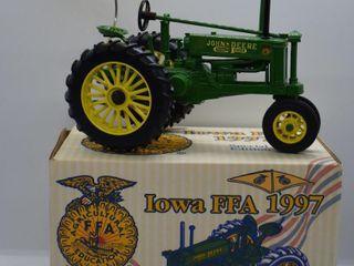 John Deere Model B die cast tractor with umbrella  1 16 scale