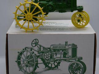 John Deere Model P die cast tractor  1 16 scale