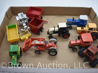 10  die cast Tractors  all 1 64 scale