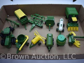 12  die cast Tractors and Implements  all 1 64 scale