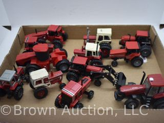 12  die cast Tractors  all 1 64 scale