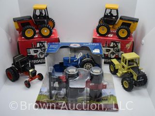 6  die cast Tractors  most 1 32 scale or 1 64 scale