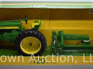 John Deere 720 with blade die cast tractor  1 16 scale