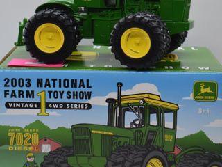 John Deere 7020 diesel die cast tractor  1 32 scale