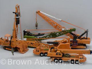 assortment of die cast construction tools