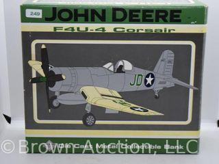 F4U 4 Corsair John Deere die cast coin bank