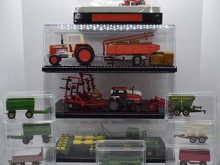 assortment of die cast Tractors and Implementss  mostly 1 64 scale