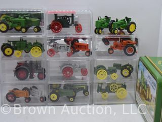 assortment of die cast Tractors  appear to all be 1 64 scale