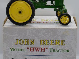 John Deere Model HWH die cast tractor  1 16 scale