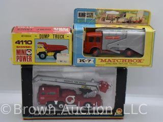 3  die cast toys  all original boxes
