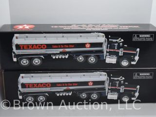 2  Texaco 18 wheel Toy Tanker Trucks