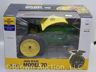 John Deere 70 w  umbrella die cast tractor  1 16 scale