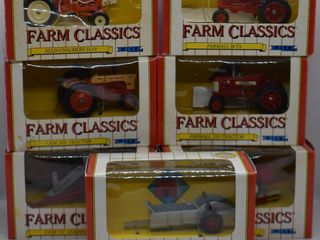 7  ERTl Farm Classics die cast Tractors and Implements  all 1 43 scale