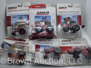 6  die cast International Tractors  all 1 64 scale