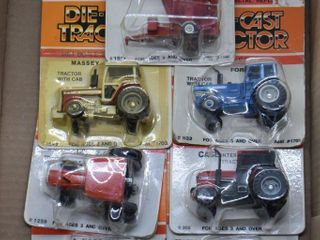 7  die cast Tractors  all 1 64 scale