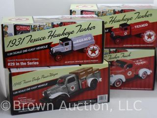 4  die cast Texaco models  1 25 and 1 34 scale