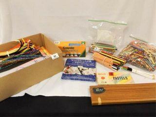 Craft Supplies  Pencils  Paints