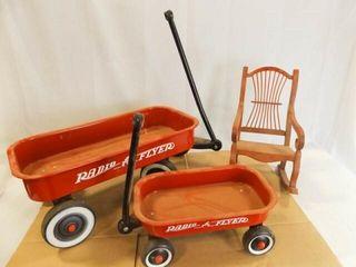 Radio Flyer Wagons  2  Wood Toy Chair