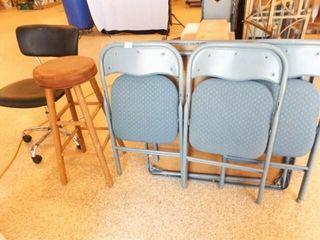 Office Chair  Bar Stool  Card Table   Chairs  3