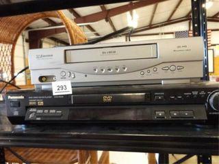 Emerson VHS Player  Panasonic DVD CD