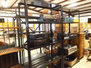 Metal Black Shelves  2 Units  no contents