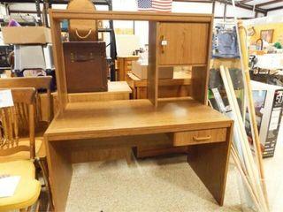 Desk  Mfg  Materials  with Shelves