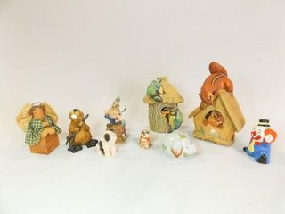 Figurines  including 2 Bossons  9