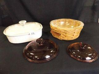 Corning Ware Casserole  Pyrex Bowl no lid