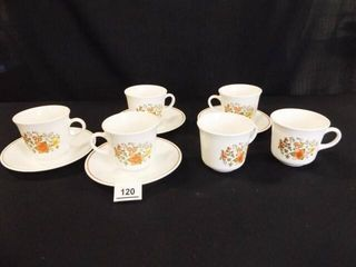 Corelle Cups  6  and Saucers  4