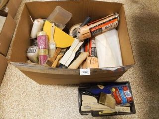 Box of Paint Supplies  Tools