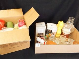 Candles  Scents  Holders  Vase   2 Boxes